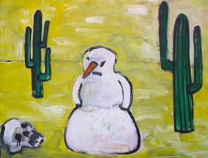 SNOWMAN IN THE DESSERT